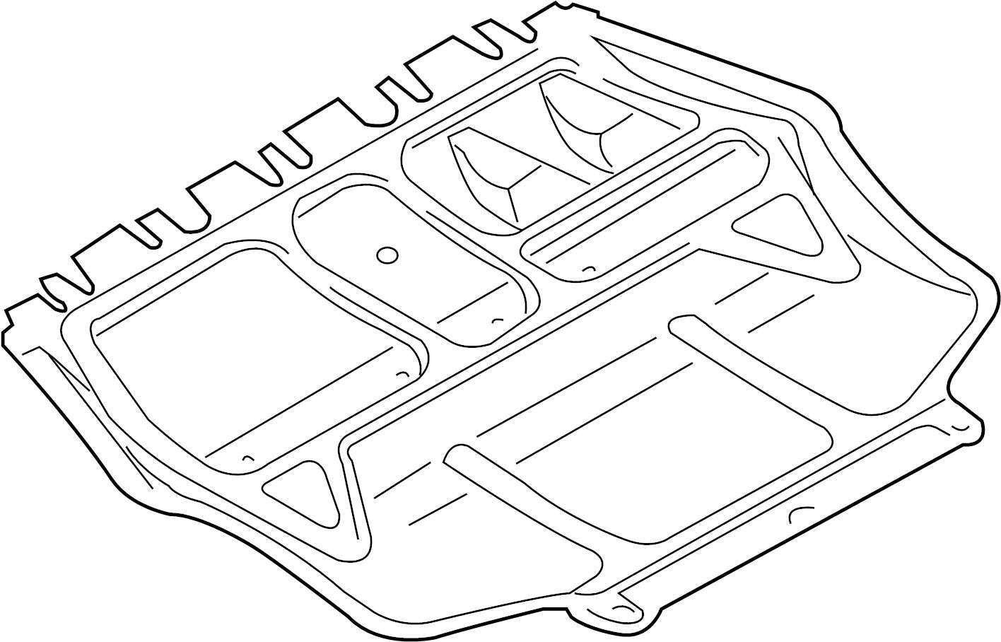 2010 Volkswagen Jetta Radiator Support Splash Shield