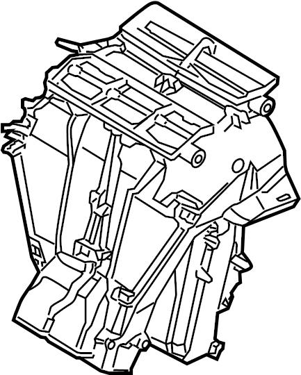 2007 Volkswagen Rabbit Hvac unit case. W/manual regulation