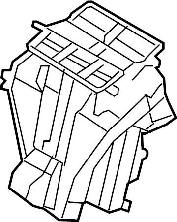 2008 Volkswagen GTI Air. HVAC. Housing. Box. VALEO, HEATER