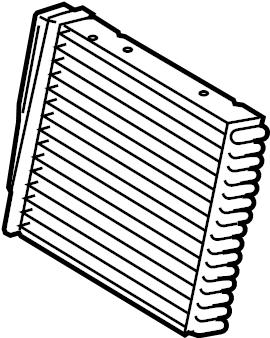 2009 Volkswagen Rabbit Hvac heater core. Heatercore