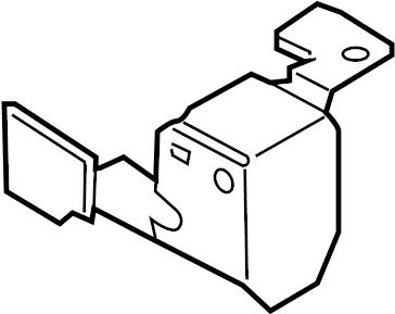 2005 Volkswagen Jetta Engine Control Module Bracket (Lower
