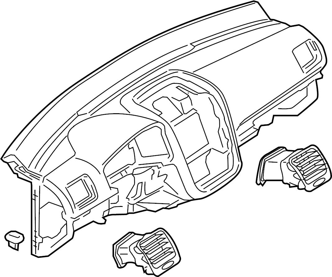 2007 Volkswagen Rabbit Dashboard Panel. Instrument, Make