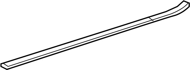 2008 Volkswagen R32 Door Sill Plate (Rear). Trim, Scuff
