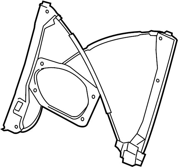 2007 Volkswagen GTI Window Regulator. DOOR, Left, Power