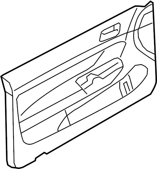2008 Volkswagen GTI Door Interior Trim Panel. Door trim