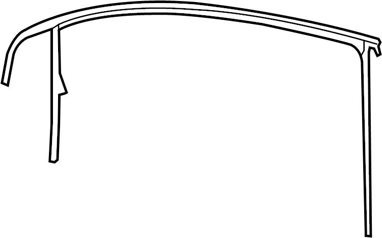 2007 Volkswagen Rabbit Window Channel. Door, Left, Guide