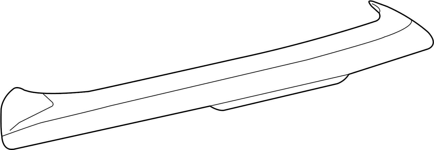 2007 Volkswagen Rabbit Spoiler. Body, Panel, Used