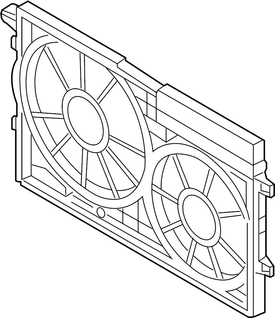2007 Volkswagen GTI Engine Cooling Fan Shroud (Front