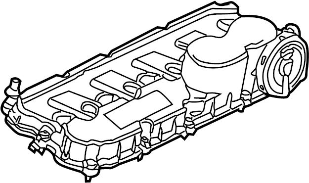 2012 Volkswagen Jetta Engine Valve Cover. LITER, Wagon