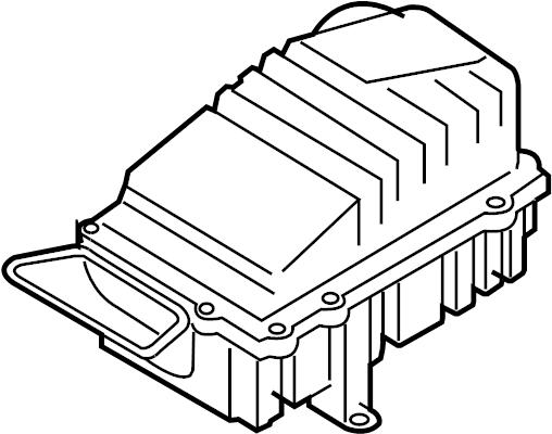 2008 Volkswagen Passat Air Filter and Housing Assembly