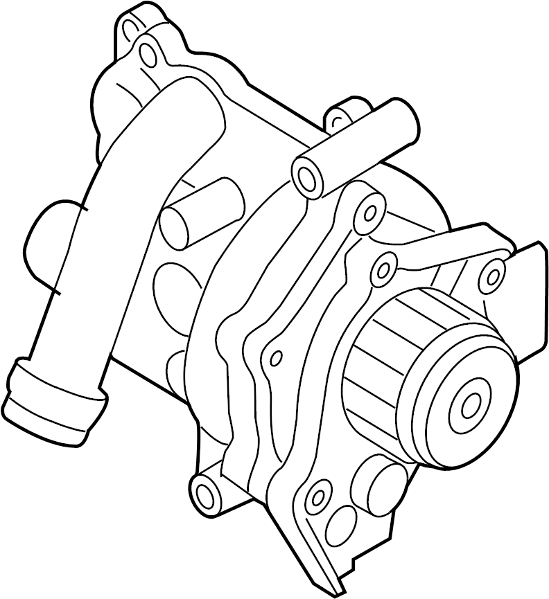 2009 Volkswagen Tiguan Engine Water Pump Assembly. Water