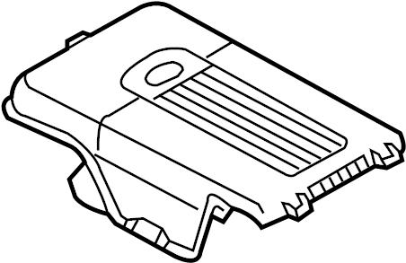 2011 Volkswagen Tiguan Battery Cover (Upper). Liter, Trans