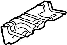 2008 Volkswagen R32 Interior Grab Bar Bracket (Rear). Rear
