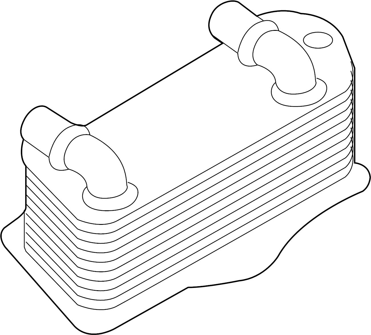 Volkswagen Sportwagen Oil Cooler Liter Code Cntb