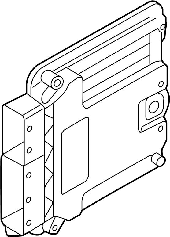 2017 Volkswagen GTI Engine Control Module. LITER, System