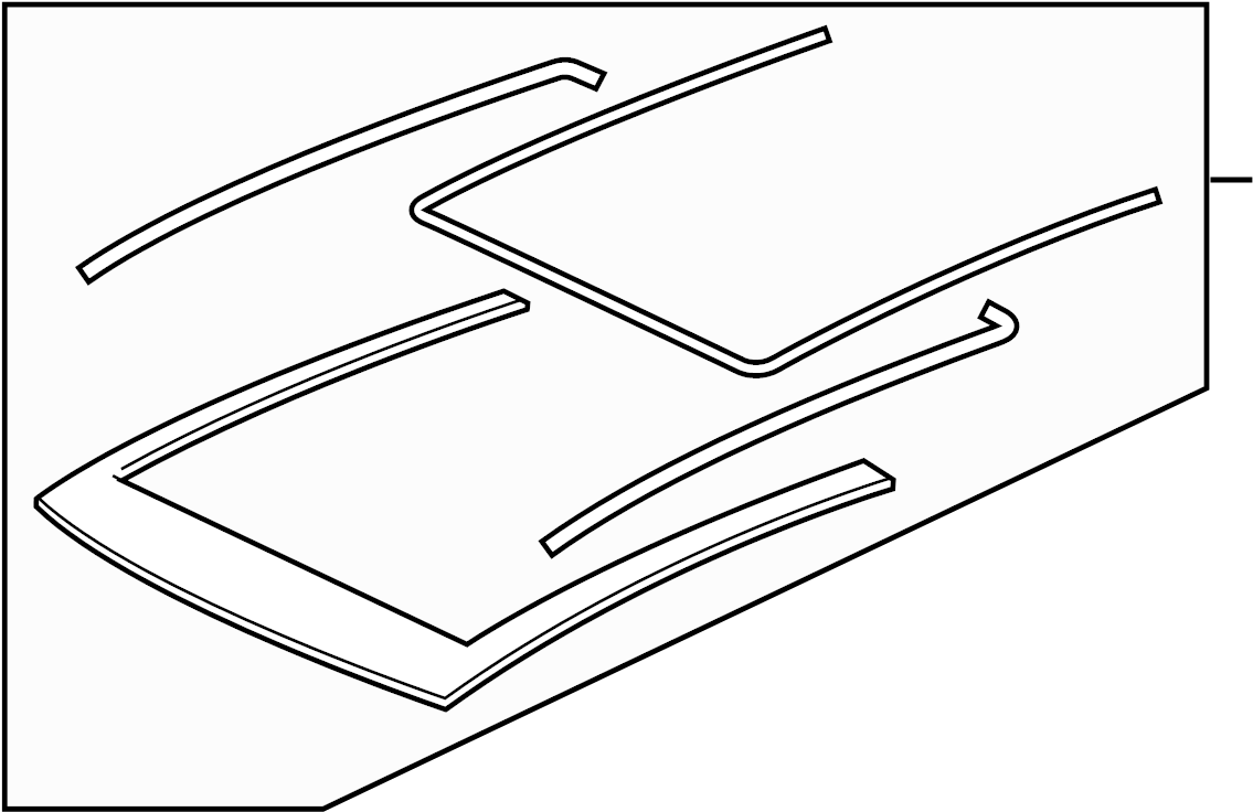 2015 Volkswagen GTI Sunroof Guide Rail (Front). Panel