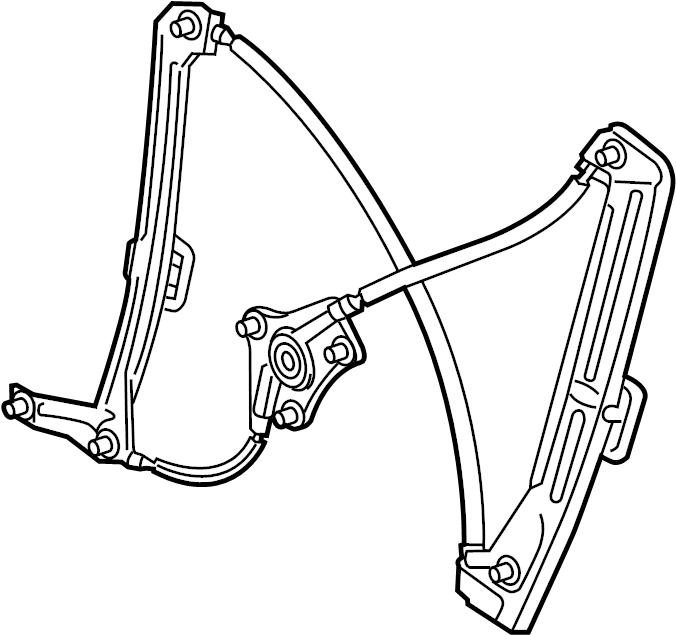 2018 Volkswagen GTI Window Regulator. DOOR, Right, FRONT