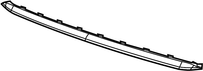2014 Volkswagen Jetta GLI Bumper Cover Spacer Panel (Upper