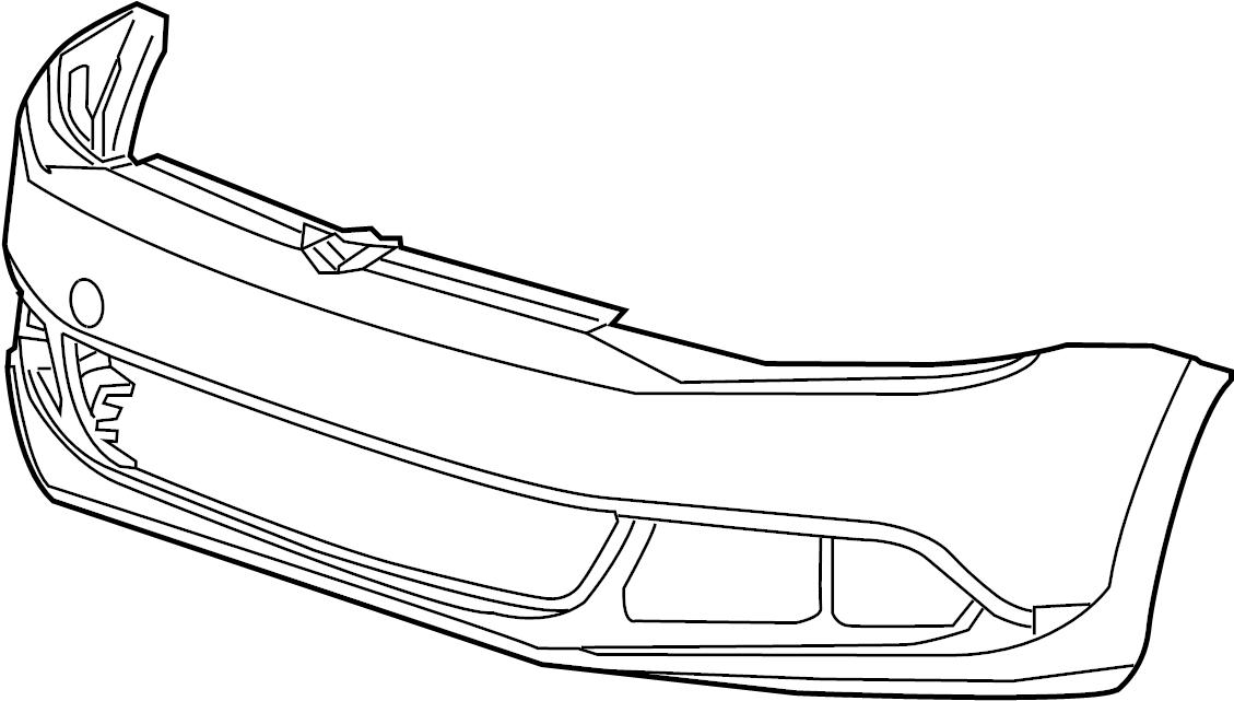 2014 Volkswagen Jetta GLI Bumper Cover. W/GLI, 2012-14. W