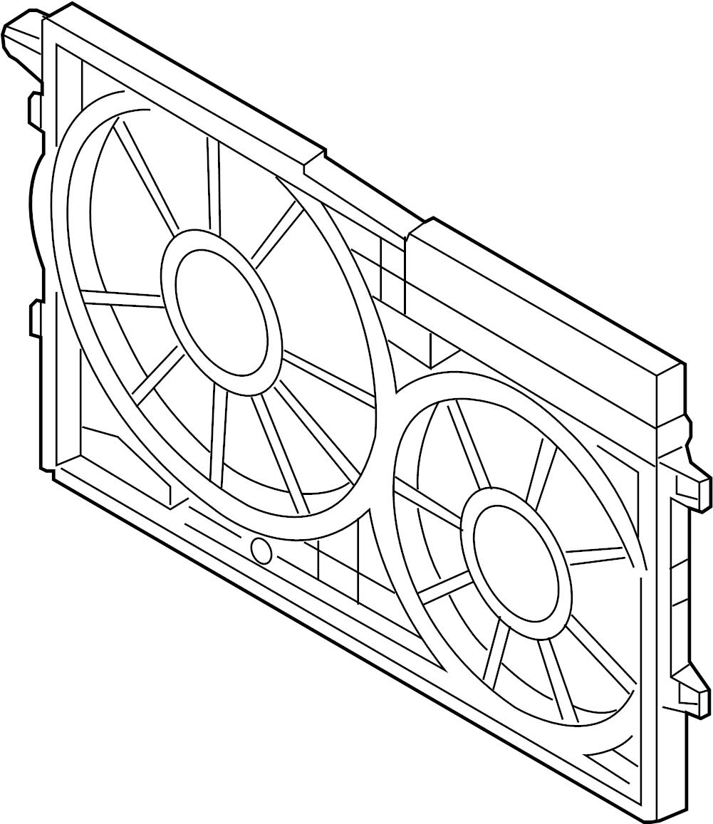 2012 Volkswagen SportWagen Engine Cooling Fan Shroud