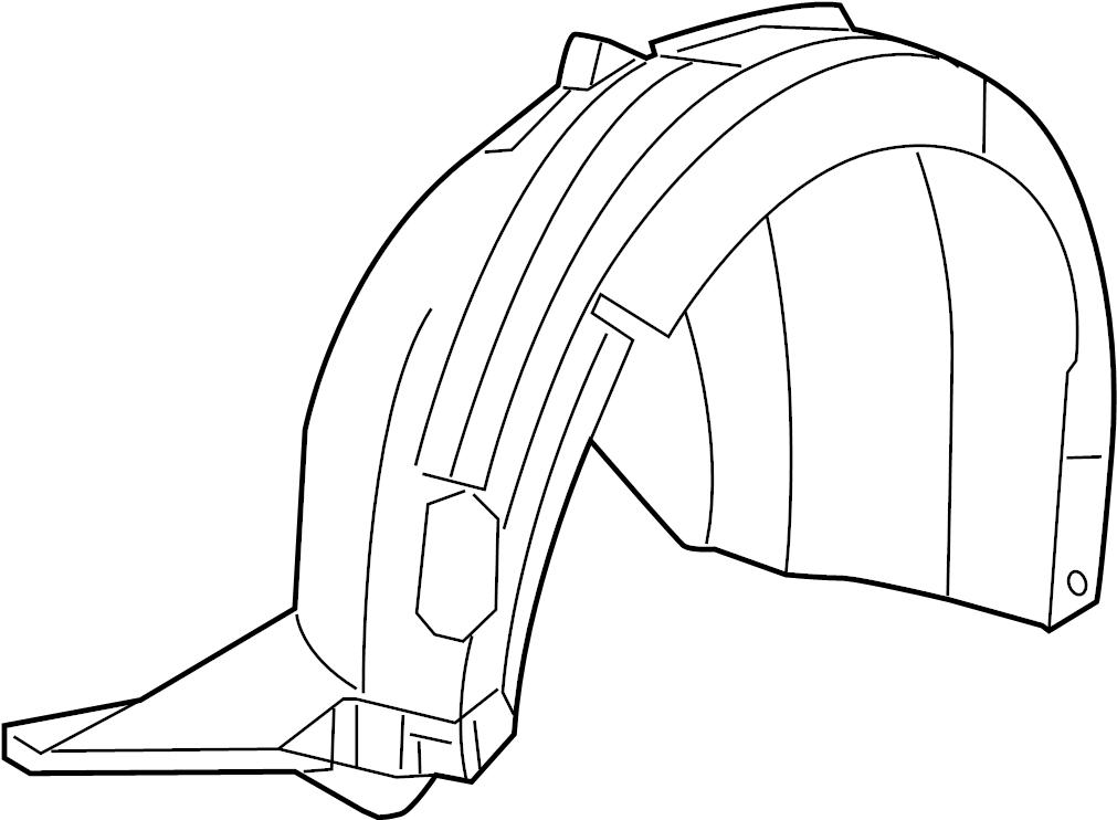 2016 Volkswagen Jetta Shield. Fender. Liner. W/o GLI, w/o