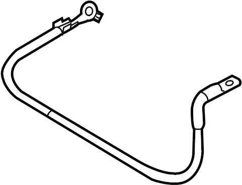 2013 Volkswagen Passat Battery Cable. Harness. POSITIVE