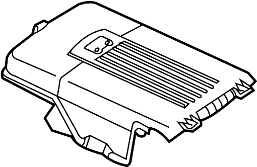 2012 Volkswagen Golf R Battery Cover (Upper). Liter, Trans