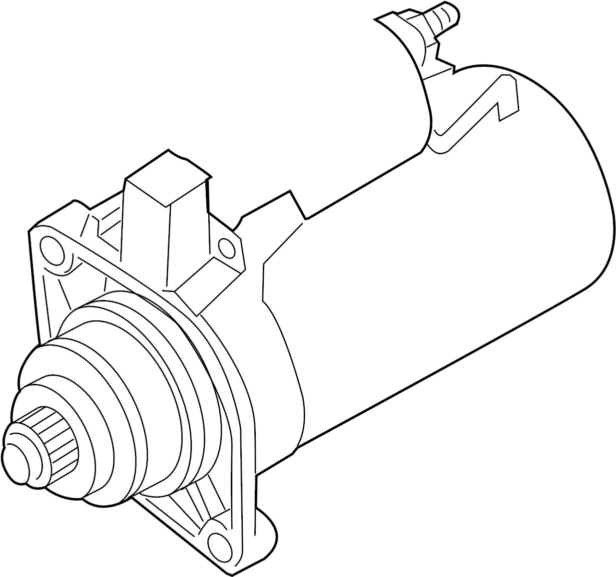 2015 Volkswagen Beetle Starter Motor. 1.1 Kw. Exc.Start