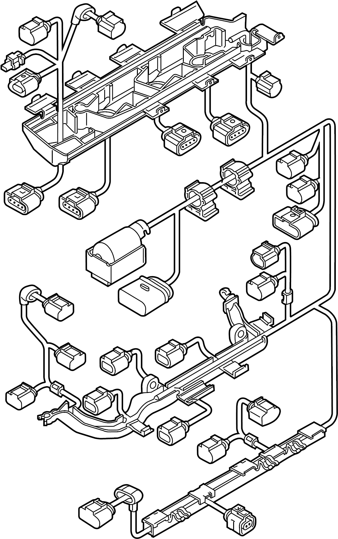2016 Volkswagen Jetta Hybrid Engine harness. Engine Wiring