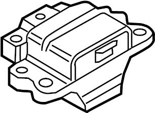 2014 Volkswagen Jetta Hybrid Automatic Transmission Mount