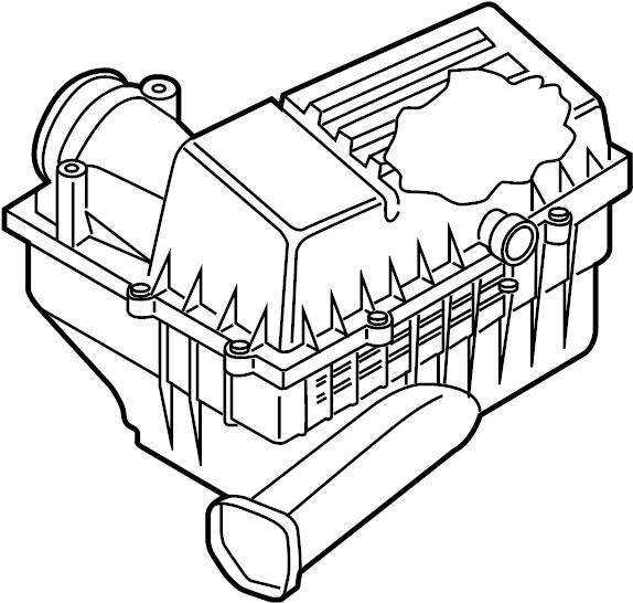 2017 Volkswagen Passat Air Filter and Housing Assembly