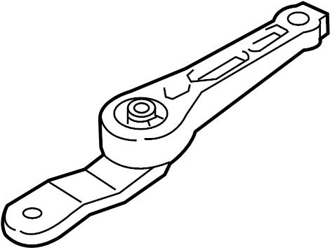 2011 Volkswagen Jetta Engine Torque Strut Mount (Rear