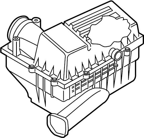 2015 Volkswagen Beetle Convertible Air Filter and Housing