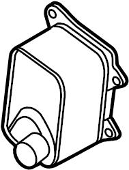 2015 Volkswagen Jetta GLI Engine Oil Cooler. LITER