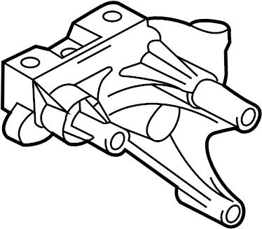 2009 Volkswagen Jetta Engine Mount Bracket. Support