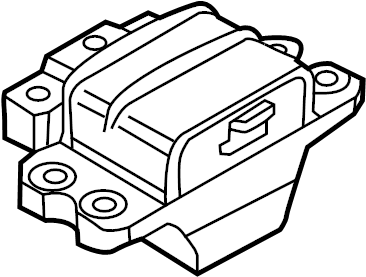 2016 Volkswagen Jetta GLI Mount. Transmission. Automatic