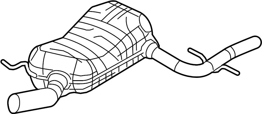 2014 Volkswagen Jetta Muffler AND pipe. Silencer. Jetta; 2