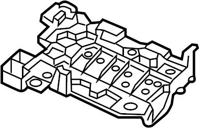 2013 Volkswagen Jetta GLI Bracket. Module. Control. SEAT