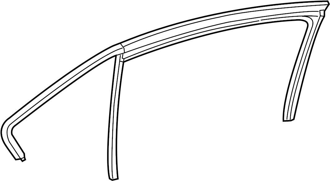 2011 Volkswagen Jetta Window Channel. SEDAN,. Run, Right