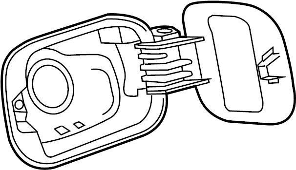 2013 Volkswagen Jetta Hybrid Fuel Filler Door. Rear