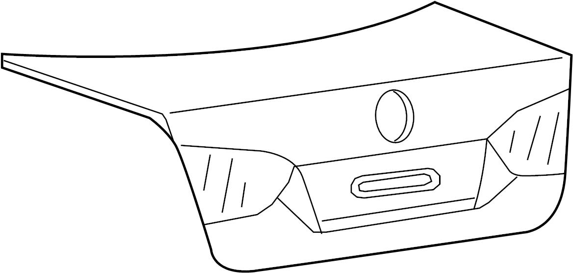 2013 Volkswagen Jetta Deck Lid. Lid. Deck. Engine. Trunk