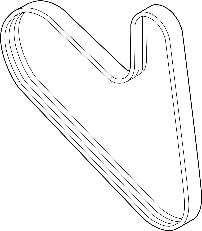 2017 Volkswagen Jetta Serpentine Belt. LITER, Drive