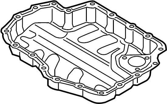 2016 Volkswagen Jetta Engine Oil Pan. Lower cover. Lower