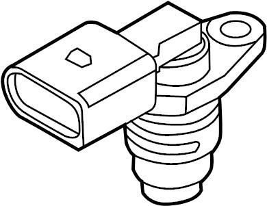 2012 Volkswagen Tiguan Camshaft sensor. Engine Camshaft