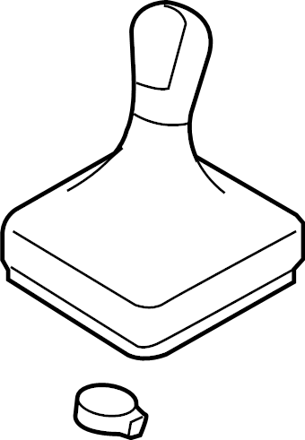 2011 Volkswagen SportWagen Manual Transmission Shift Knob