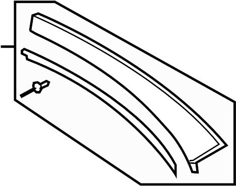 2013 Volkswagen Eos Roof Drip Molding (Upper). Panel, Side