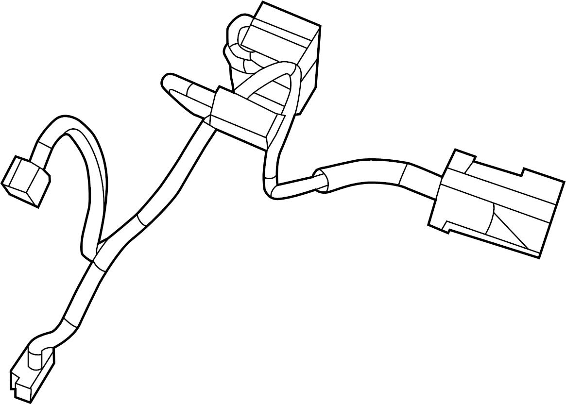 2011 Volkswagen Routan Hvac system wiring harness. Front