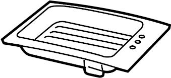 2010 Volkswagen Routan Console Lid. Lower; 2009-10 FULL