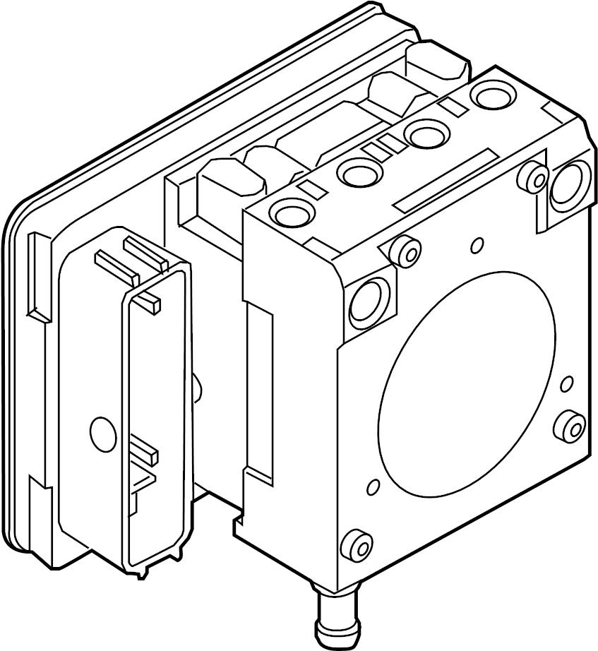 2001 Volkswagen Beetle Abs control module. Light, repair