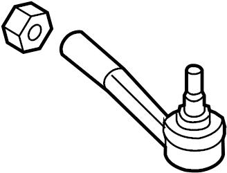 1986 Volkswagen Quantum Steering Tie Rod End. GEAR